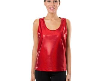 Workout Fashion Women's Sparkling Red Tank Top