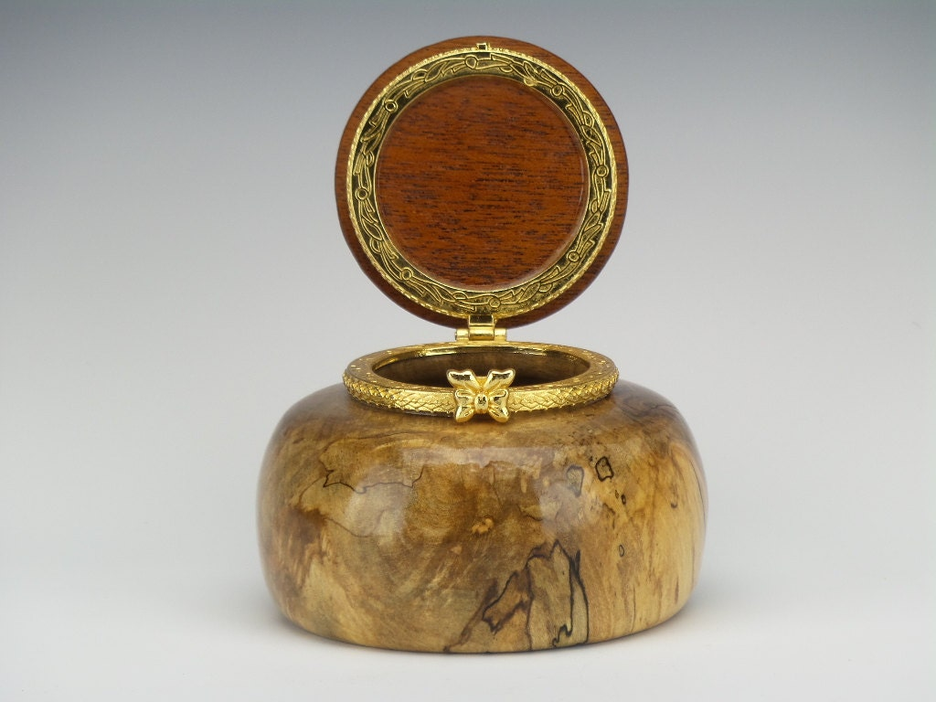 Small Decorative Jewelry Boxes : Small decorative box jewelry woodturned ring