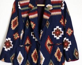 New Mexican Native Jacket: 1980s Michael K Company Southwestern Vintage Suit Coat