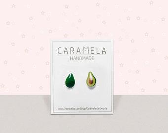 Avocado Stud Earrings Miniature Food Guacamole Guac Avocado Jewelry Fruit earrings Green earrings Gifs stud earrings