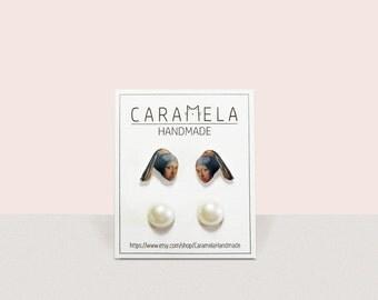 Girl with a Pearl Earring Stud Earrings Set of 2 pairs of earrings