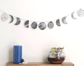 FREE shipping* - Moon phase, moon cycles, DIY kit, Moon decor, moon Wall hanging
