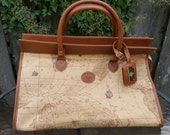 World Map Travel Bag Columbus Collection 500 by Bagoda Vintage Atlas Large Purse or Carry on Bag Honeymoon Luggage