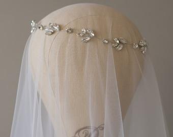 20% OFF- Wedding Headpiece, Bridal Headband, Wedding Halo, Crystal Bridal Hair Vine, Wedding Hair Piece, Wedding Headband, Boho Hairpiece