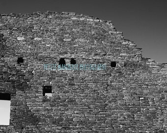 Chaco Canyon, Chaco Culture, Hungo Pavi, Ancient Ruin Wall, Stone Wall, New Mexico, Sacred Site, Pueblo People, American Southwest
