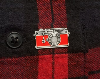 Camera Enamel Pin - Leica Camera Pin Badge - Vintage Camera - Photographer - Camera Accessories - Gift For Him - Gift For Dad - Things By Us