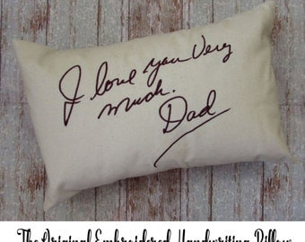 HANDWRITING EMBROIDERED memory PILLOW, handwritten embroidery, custom note, gift to mom, personalized