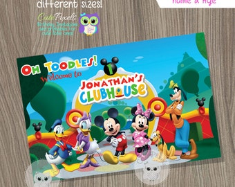 Mickey Mouse Backdrop, Mickey Mouse Birthday Banner, Mickey Mouse Clubhouse, Mickey Mouse Sign, Mickey Mouse Poster, Mickey Mouse Photo Back