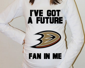 Anaheim Ducks Shirt Baby Anaheim Ducks Shirts Long Sleeve Shirt Women Maternity Funny Pregnancy Shirts