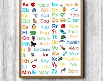 Alphabet chart | Etsy