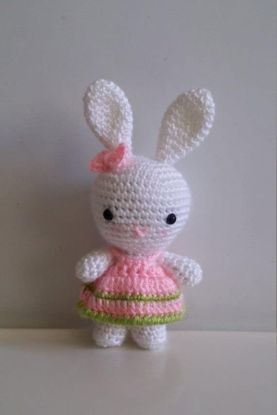 Amigurumi Care Instructions : Amigurumi Tiny Bunny Organic Stuffed Animal Toys Crochet Rabit
