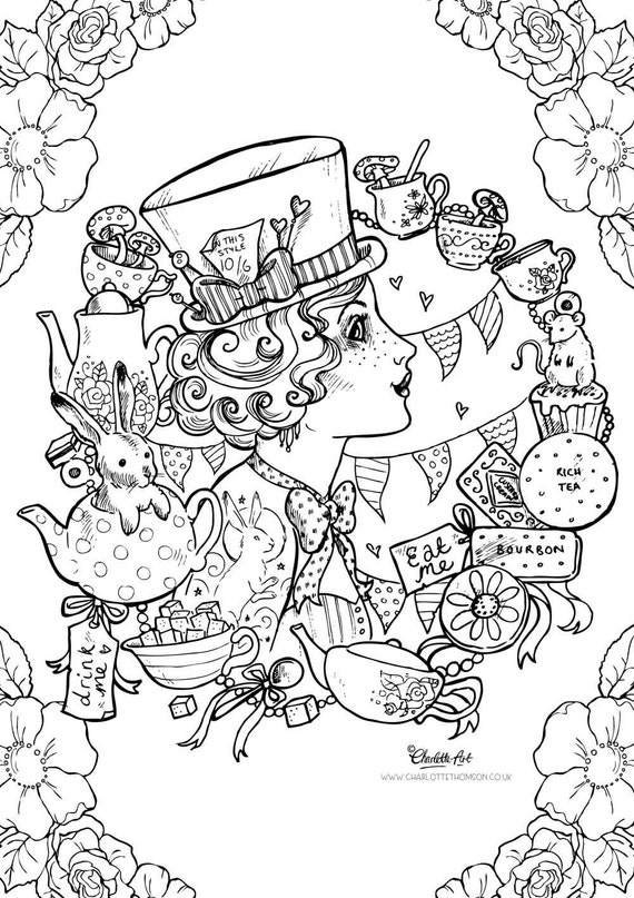 victorian steampunk coloring pages - photo#19