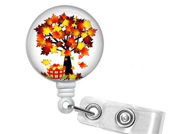 Happy Fall Ya'll !, Retractable ID Badge Reel, Thanksgiving, Fall
