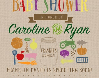 Farmer's Market Couple's Baby Shower | PERSONALIZED
