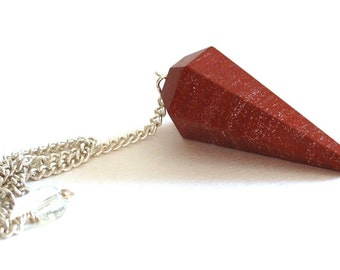 Red Jasper Crystal Dowsing Pendulum
