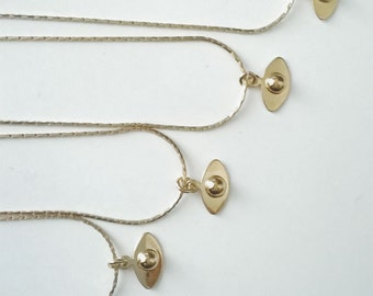 Necklace EYES Golden fine gold Stanka mila