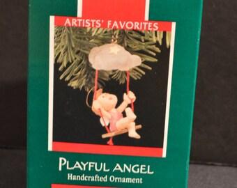 1989 Hallmark Keepsake Playful Angel Ornament