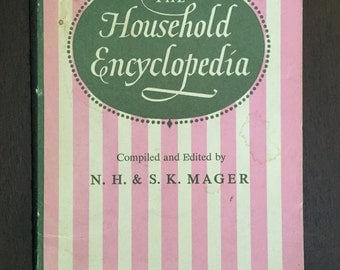 The Household Encyclopedia, 1965 vintage home reference book