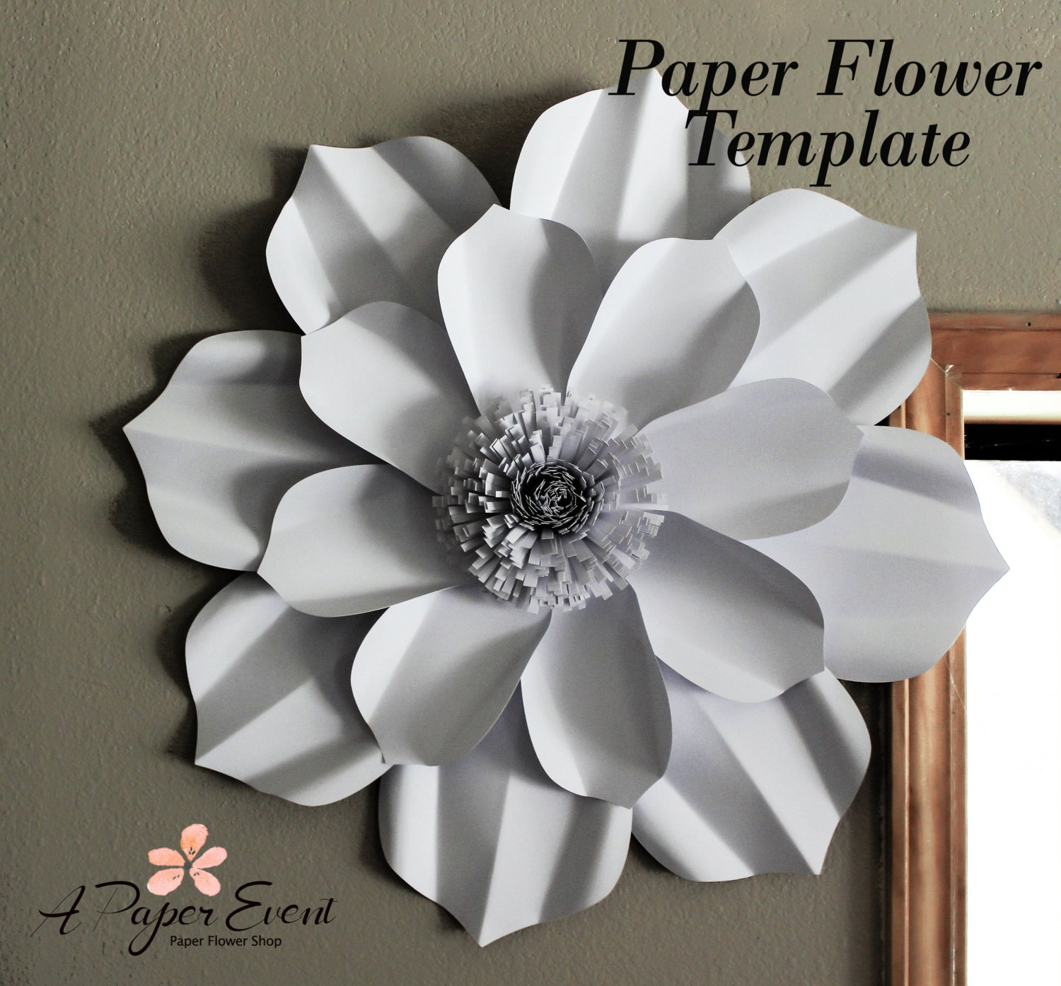 Paper Flower Template DIY Paper Flower DIY Backdrop Paper Flower Backdrop