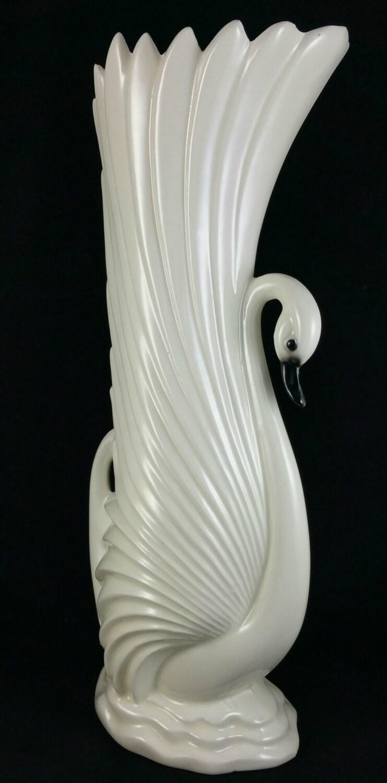 Vintage Maddux Pottery White Swan Vase Maddux Of California