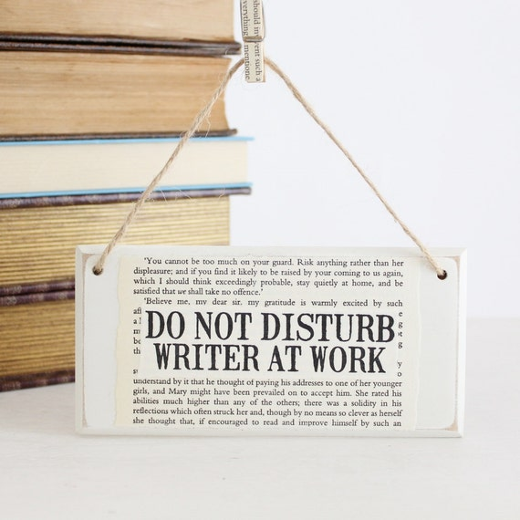 do not disturb writer at work original wooden door sign like this item