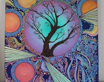 Oil Painting Tree of Light