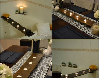 Bathtub or Dining Table 2-in-1 Candle Tray - Seamlessly Transitions from Bathroom to Dining Room