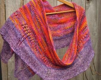 Knit Shawl   Handmade Shawl   Knit Wrap   Unique Accessories   Women's Accessories   Wearable Art   Shawls   Wraps