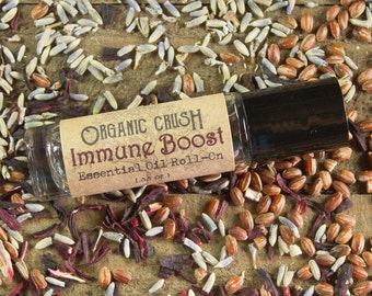 IMMUNE BOOST Essential Oil Roll-On | Immune Stimulant | Essential Oils to Boost Immune System | Fights Colds and Flus
