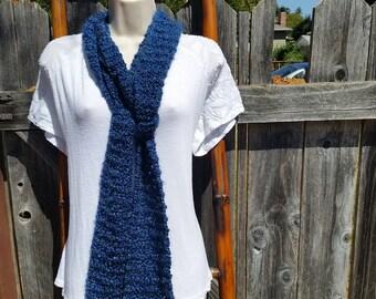 Blue Knit Scart