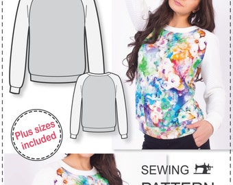 Sweatshirt Sewing Pattern - Womens Sewing Patterns - Sweatshirt Pattern - Easy Sewing Projects - Simple Sewing Projects - Sewing Tutorial