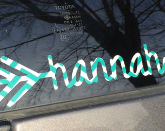 Arrow with Name Car Decal