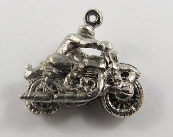 Motorcycle Silver Vintage Charm For Bracelet