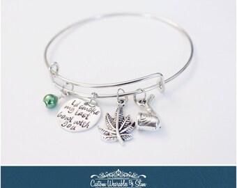I'd Smoke My Last Bowl With You - charm bangle bracelet!
