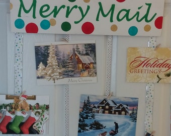 Merry Mail Wood Christmas Sign
