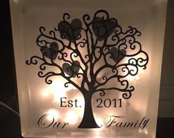 Frosted Glass block Personalized