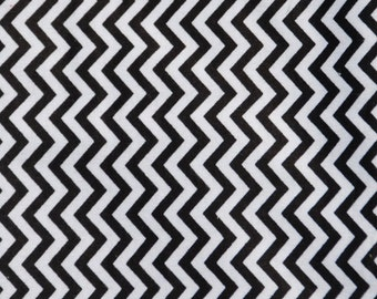 Black and White Chevron Flannel Baby Blanket