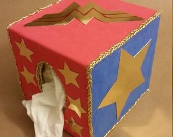 DC Comics Wonder Woman Wooden Tissue Box Cover