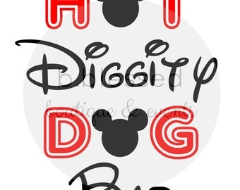 Hot Diggity Dog Bar Printable Sign