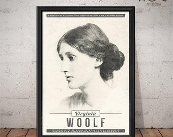 Virginia Woolf - Unique Quote Poster Design
