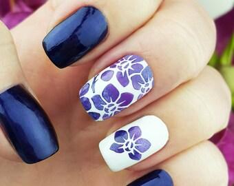 Orchids Nail Art Stencils - incredible nail art vinyls by Unail