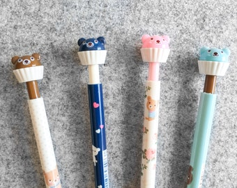 blue - Cute mechanical pencil bear