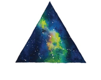 Triangle Galaxy Watercolour Print