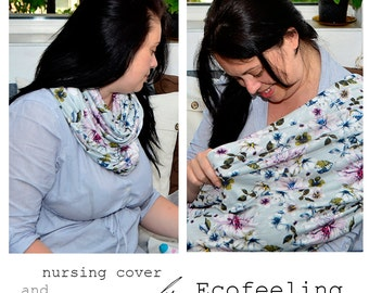 Nursing cover scarf, Nursing cover, Nursing scarf, Breastfeeding cover, Nursing Shawl, Modern mom