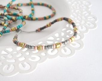Beaded bracelet, Seed beads bracelet, boho bracelet delicate bracelet summer bracelet beach bracelet minimalist bracelet, anklet