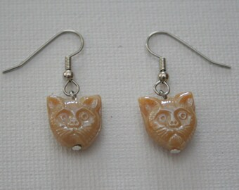 Tan Grumpy Cat Earring