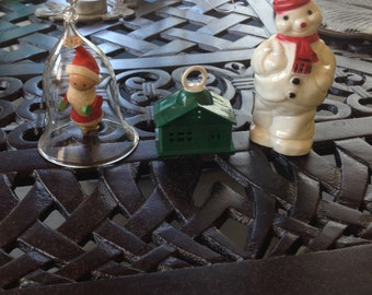 Vintage Christmas ornaments set of 3