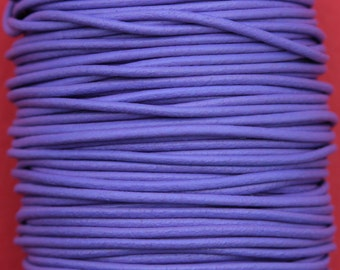 MADE IN SPAIN 6 feet 2mm leather cord, 2mm lavender leather cord, 2mm jewelry leather cord (2MIL)