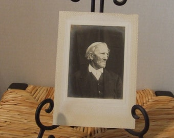 Vintage Elderly Man Photograph, 1900's Black & White Photograph, Edwardian Old Man, Antique Photograph Old Victorian Man, Vintage Picture