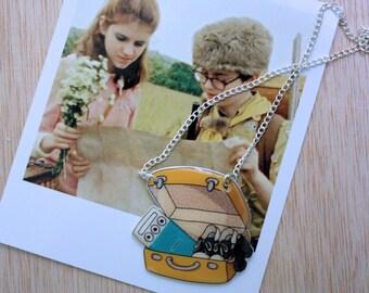 Moonrise Kingdom Necklace, Wes Anderson Necklace, Shrink Plastic